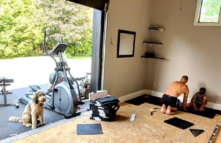floor adaptation for garage gym