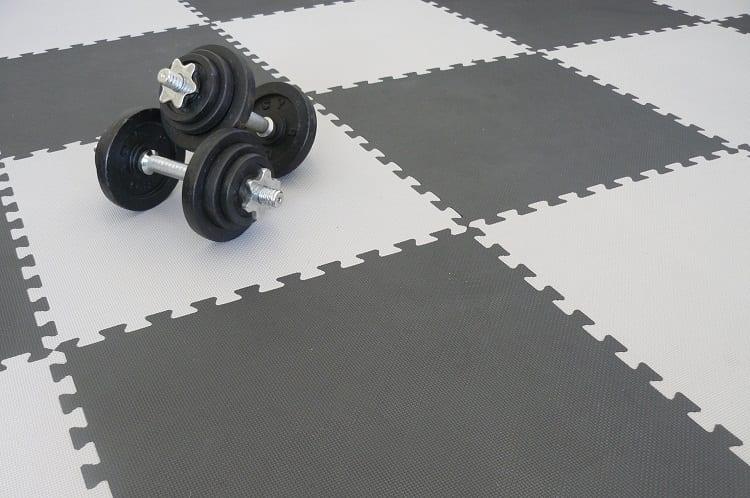 Weights On Gym Floor