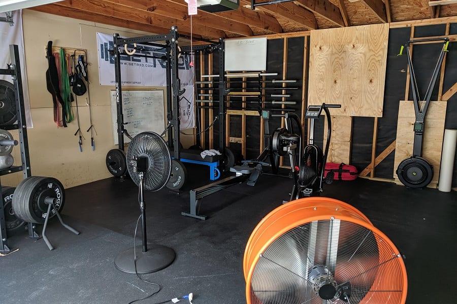 fans in garage gym
