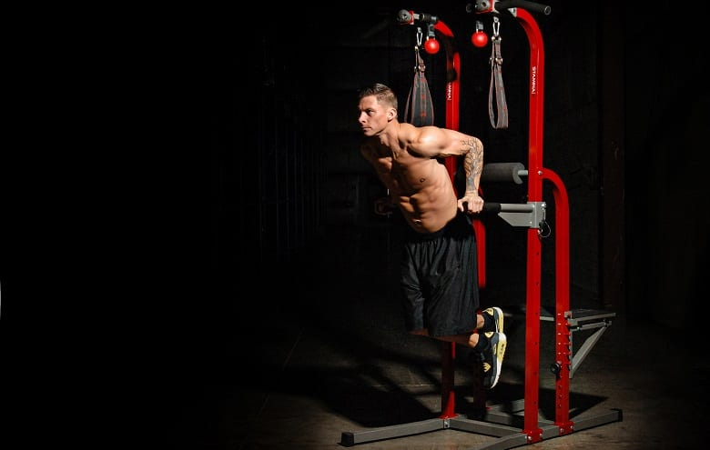 abs workout on power tower