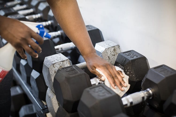 Cleaning Dumbells