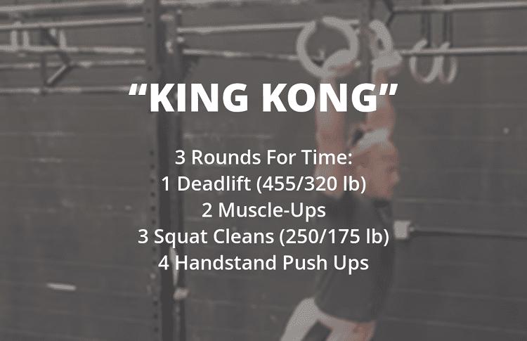 king kong workout