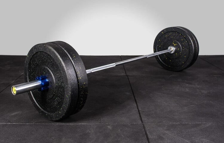 weights on olympic barbell