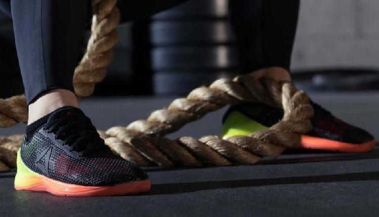 rope training with crossfit shoes