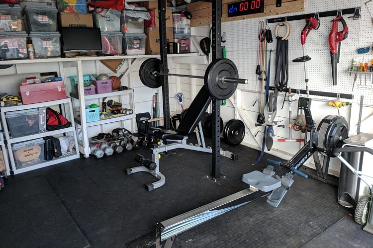garage gym with used equipment