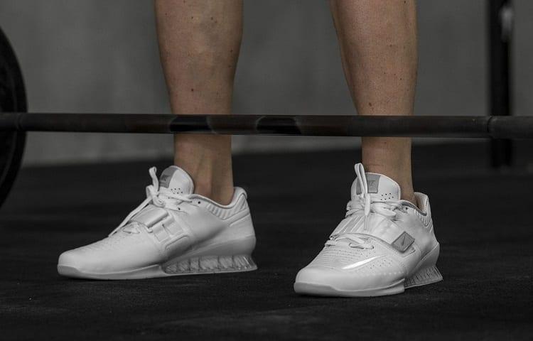 raised heel on weightlifting shoes