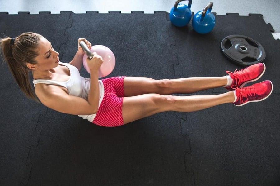training on floor mat
