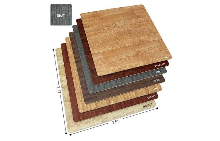 Sorbus Wood Grain Floor Mats Foam Review