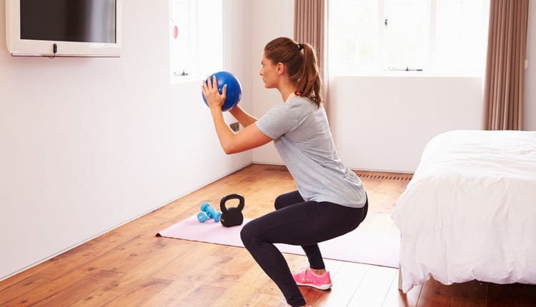 sit ups with ball