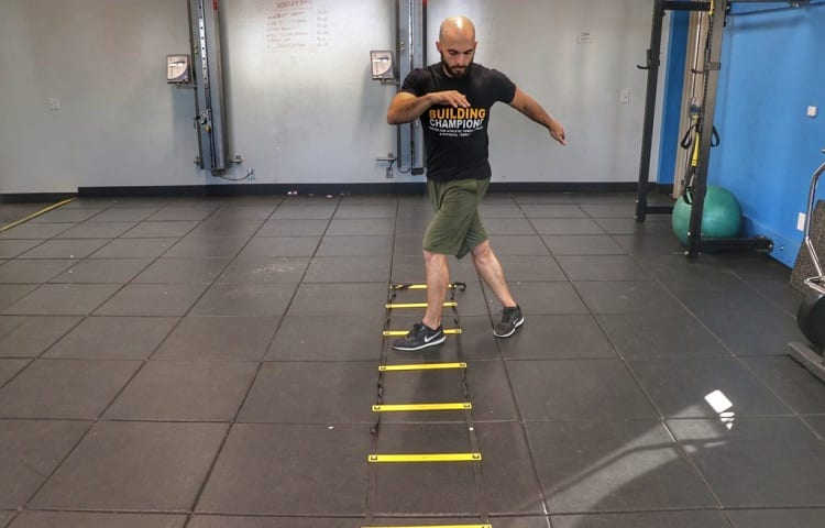 exercise with agility ladders