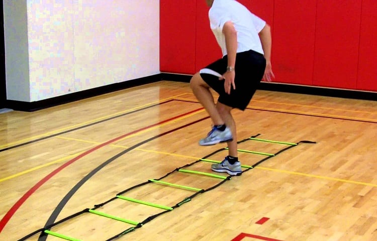 Hopscotch on agilitty ladders