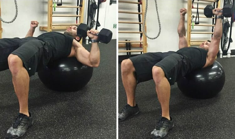 one arm chest press