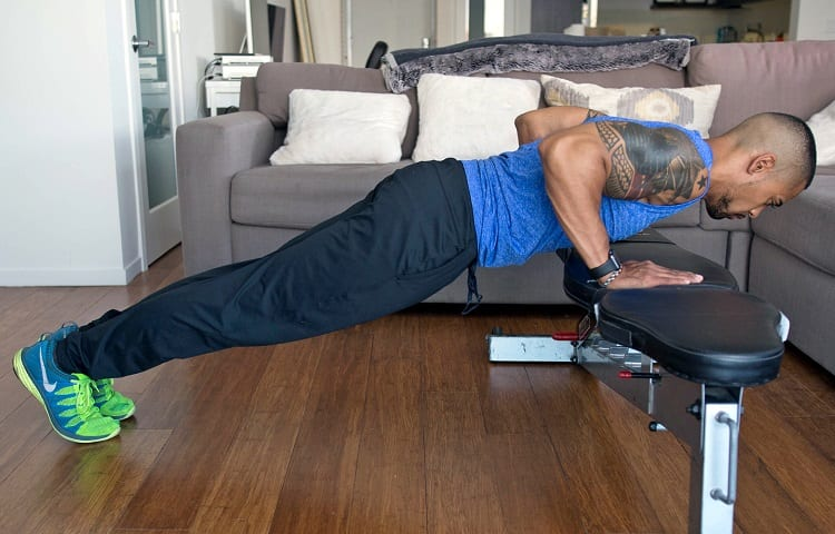 incline push ups at home