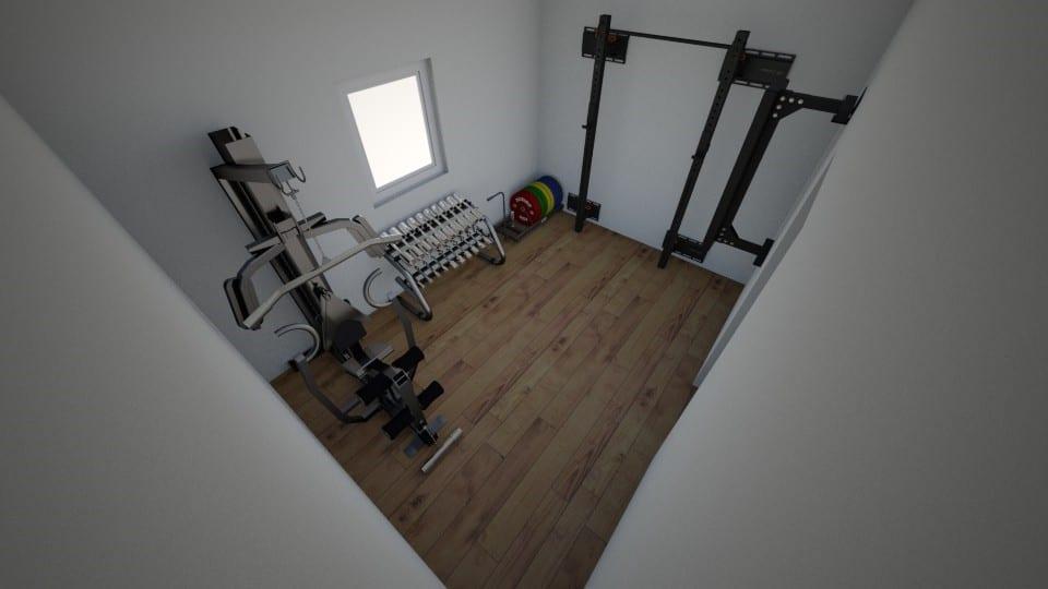 home gym set-up