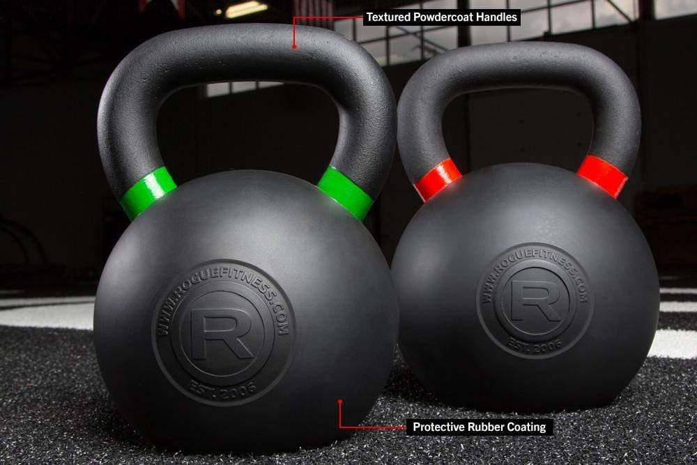 rogue rubber coated kettlebell