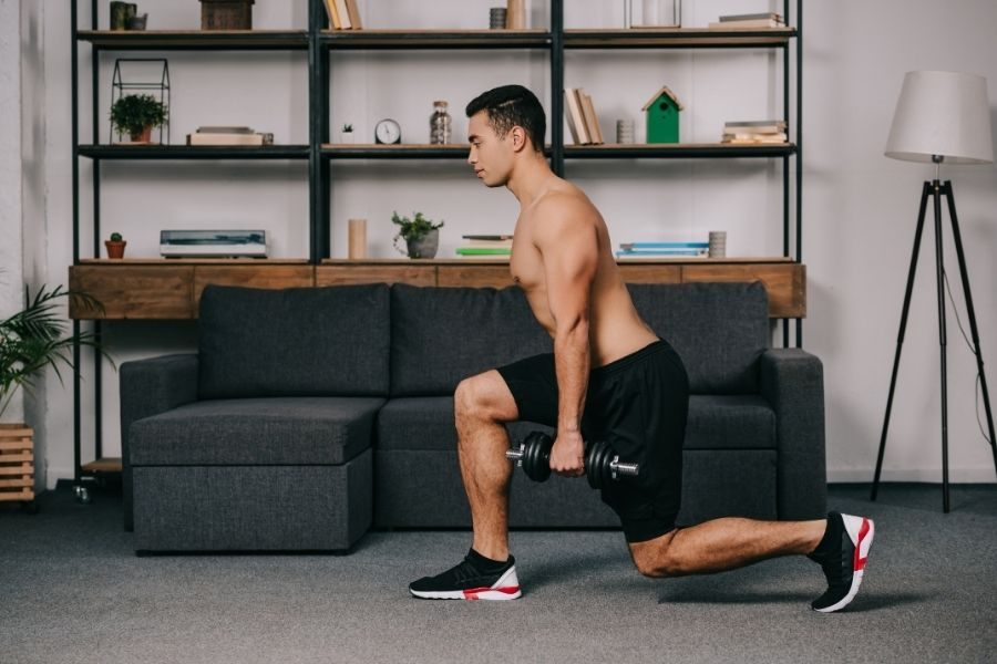 home gym apartment lunge